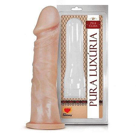Prótese Pura Luxuria Realistico Maciço18,5X4,2 CM Sexy Fantasy