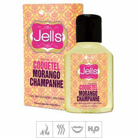 Gel Comestível Jells Hot 30ml - Coquetel Morango Chapanhe
