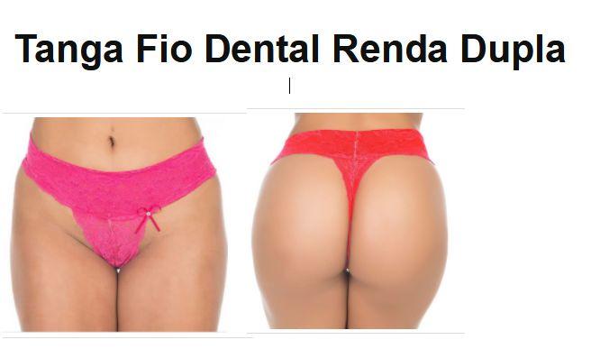 Tanga Fio Dental Renda Dupla