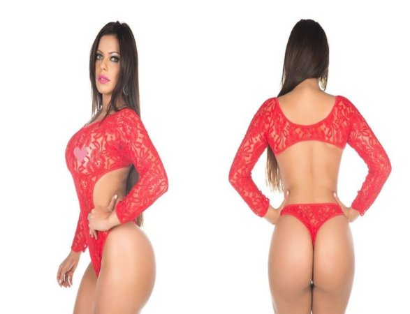Body Sensual Escândalo Vermelho Pimenta Sexy