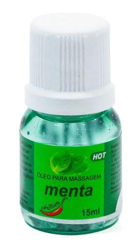 Oleo Para Massagem Sensual Hot Chillies - Menta