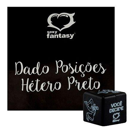 Dado Posições Hétero Preto 1 Unid. Sexy Fantasy