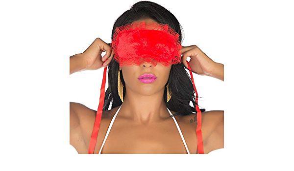 Venda Tapa Olhos Pimenta Sexy  Cor  Vermelha