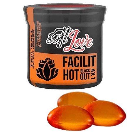 Facilit Hot Blackout 4x1 Triball Soft Ball Funcional 3un Soft Love