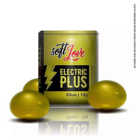 Bolinha Eletric Plus Triball Soft Ball Funcional 3un Soft Love