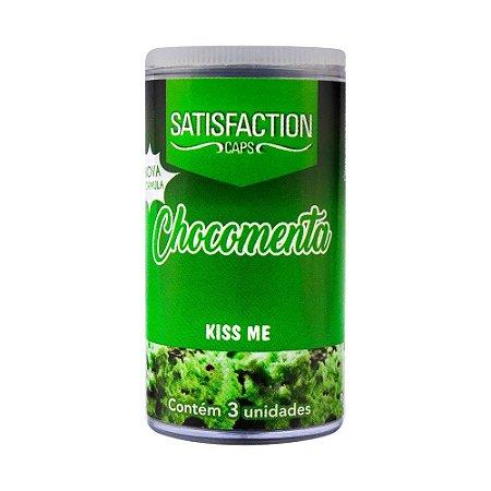 Bolinha Beijavel Kiss Me Chocomenta Hot 3 Uni Satisfaction Ies