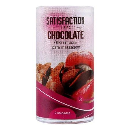 Bolinhas Beijaveis Chocolate Para Massagem Corporal Satisfaction Caps 2 Un