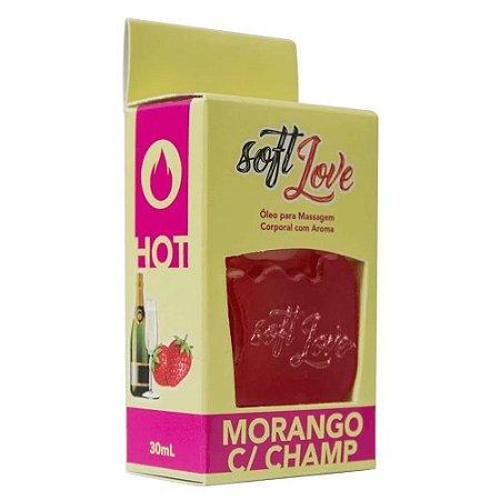 Gel Comestível Morango Com Champanhe 30ml Soft Love
