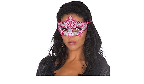 Máscara Sensual Pimenta Sexy Cor Branco Com Rosa