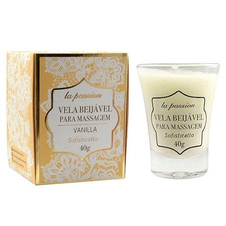 Vela Para Massagem Beijavel La Passion 40G Sofisticatto - Fragância Vanilla