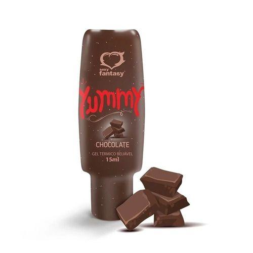 Gel Térmico Comestível Yummy Sabor Chocolate 15ml Sexy Fantasy