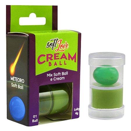 Cream Ball Bolinha E Creme Meteoro Mamba Verde Soft Love