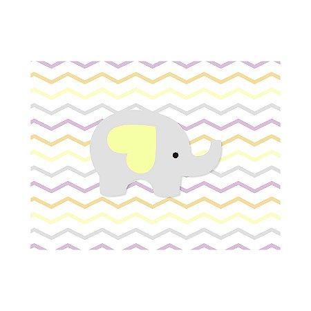 Painel de Festa Reto Elefante Zig Zag