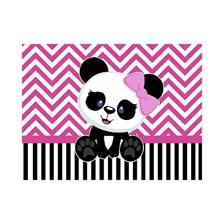 Painel de Festa Reto Panda Vintage