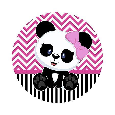 Painel de Festa Redondo Panda Vintage