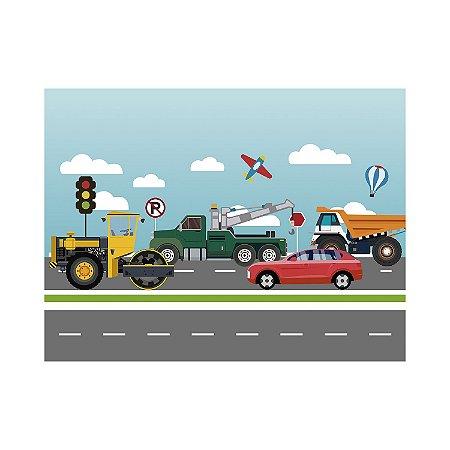 Painel de Festa Reto Estrada Ilustração