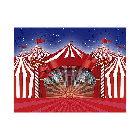 Painel de Festa Reto Circo Arquibancada
