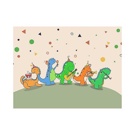 Painel de Festa Reto Dinossauro Festa