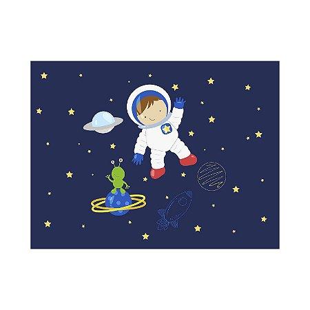 Painel de Festa Reto Espaço Astronauta