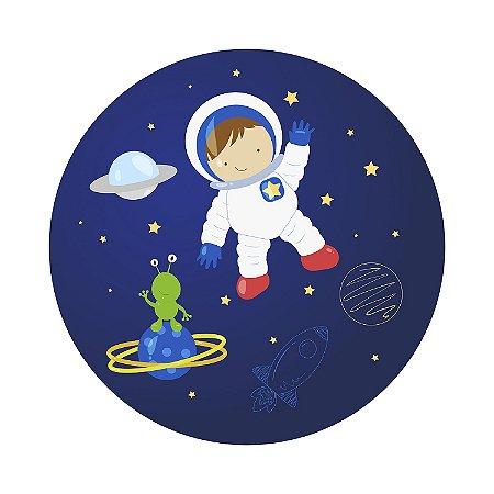 Painel de Festa Redondo Espaço Astronauta