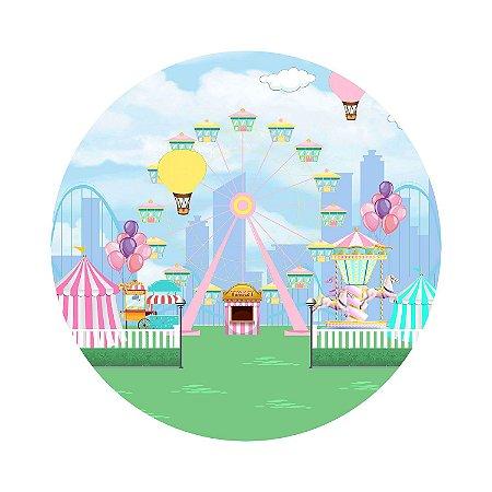 Painel de Festa Redondo Parque Roda Gigante