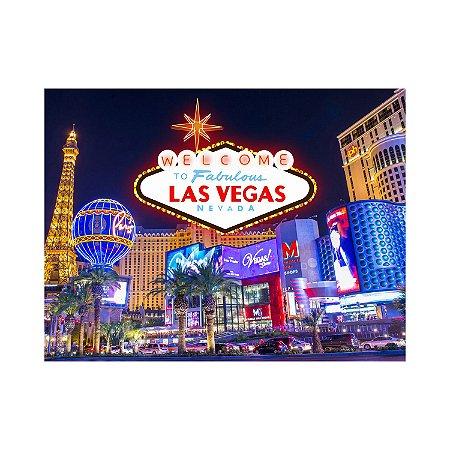Painel de Festa Reto Las Vegas Noite