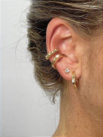 Piercing fake grossinho dourado