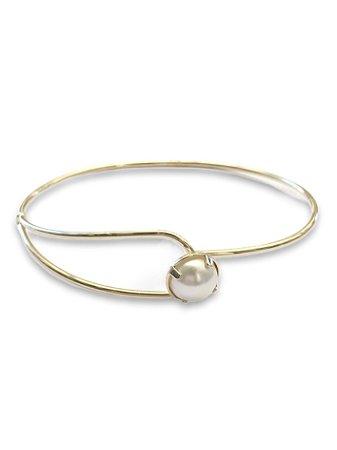 Bracelete fechado detalhe pérola