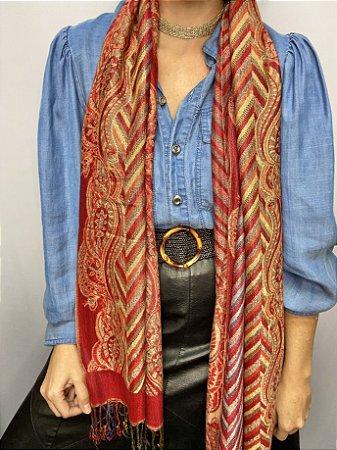 Pashmina indiana viscose com toque de lã
