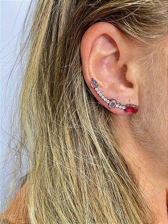Brinco ear cuff zircônia