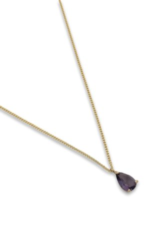 Colar gota zircônia purple