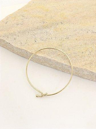 Bracelete fininho metal fecho encaixe