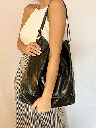 Bolsa saco couro legítimo