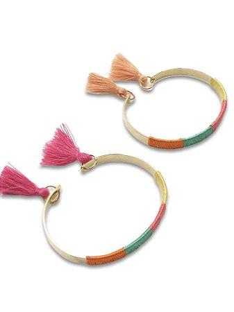 Bracelete linha color com tassel