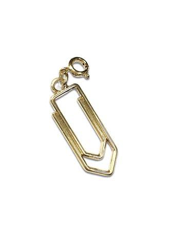 Pingente clips dourado