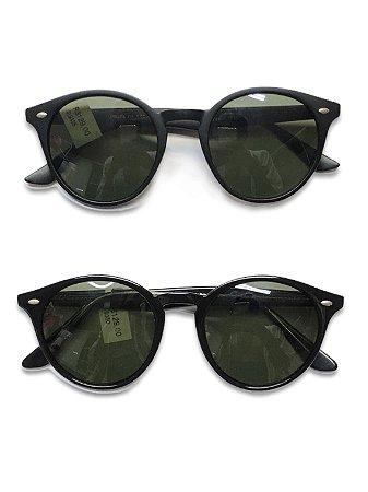 Óculos preto lente verde