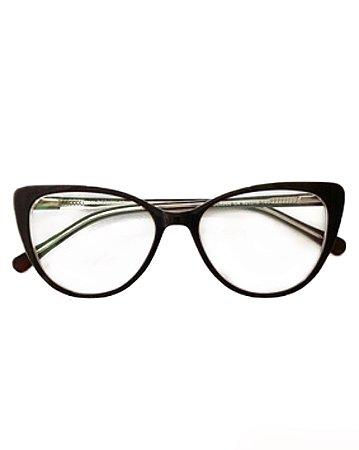 Óculos armação gatinho