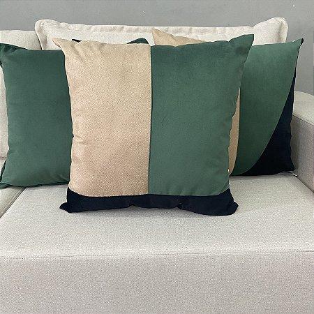 Trio de almofadas verde