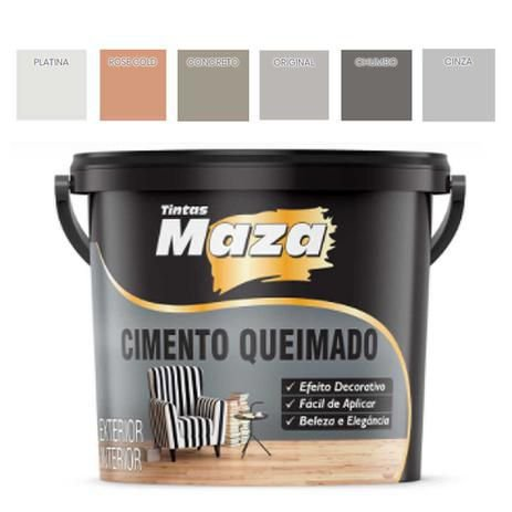 Cimento Queimado Tradicional Maza Para Parede Decorativo 25 kg