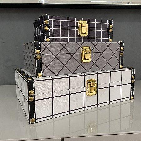 kit caixas 3 peças