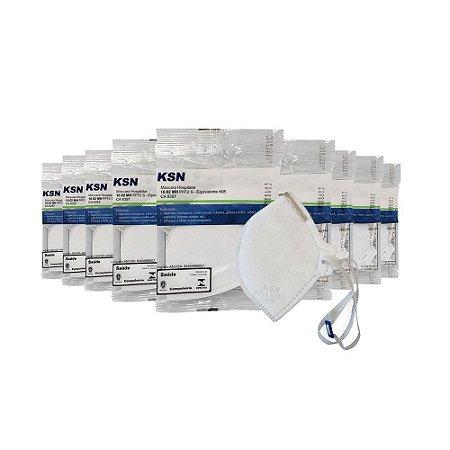 10 Máscaras Protecão Hospitalar Ksn (n95)-pff2-reg. Anvisa