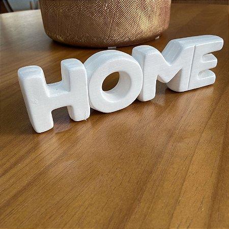 Enfeite Home Mármore em cerâmica