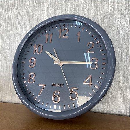 Relógio de Parede Cinza Rose Gold