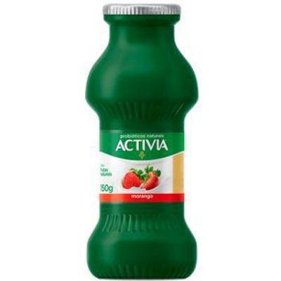 ACTIVIA LEITE FERM. MORANGO 150GR P/S