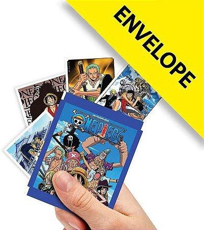 Envelope One Piece Contém 4 cromos + 1 card