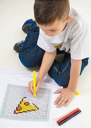 Camiseta para colorir com 3 canetinhas coloridas Toy-Tee unissex 100% algodão