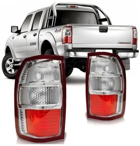 Lanterna Traseira Ford Ranger 2010 A 2012 Bicolor Lado Esquerdo