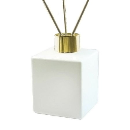Vidro para Aromatizador 200 ml Cubo Branco