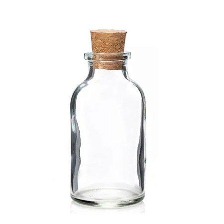 Vidro para Sais de Banho com Rolha 50 ml kit com 10 unid
