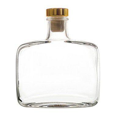 Vidro para Aromatizador 300 ml Com Rolha Luxo Dourada
